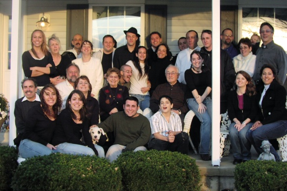 Victor surrounded by Family 2007
